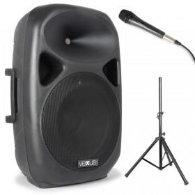 """Vexus SPS152 Actieve Speaker 15"""" SD/USB/MP3/BT met Standaard"""