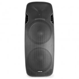 """Vonyx AP215ABT Mobiele Actieve Speaker 2x 15"""" 1200W met USB en BT - voor"""