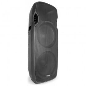 """Vonyx AP215ABT Mobiele Actieve Speaker 2x 15"""" 1200W met USB en BT - links voor"""