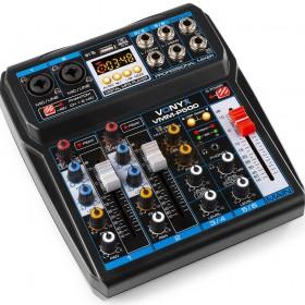 VONYX VMM-P500 - 4-kanaals Music Mixer met DSP, USB interface en MP3/BT Player