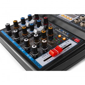 VONYX VMM-P500 - 4-kanaals Music Mixer met DSP, USB interface en MP3/BT Player master fader