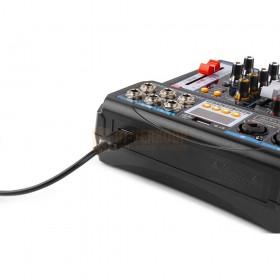 VONYX VMM-P500 - 4-kanaals Music Mixer met DSP, USB interface en MP3/BT Player achterkant aansluitingen