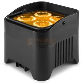 BeamZ BBP94W - Battery Uplight led Par 4x 12W WDMX voorbeeld oranje