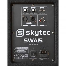 """Vonyx SWA15 - 15"""" PA Actieve Subwoofer 600W aansluitingen skytec oud"""