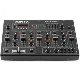 Vonyx STM2290 - 8-Kanaals Mixer Geluidseffecten USB/MP3/BT voorkant