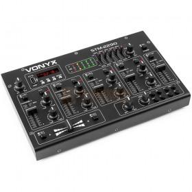 Vonyx STM2290 - 8-Kanaals Mixer Geluidseffecten USB/MP3/BT