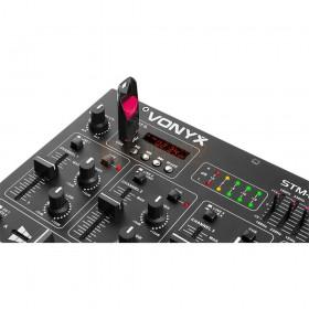 Vonyx STM2290 - 8-Kanaals Mixer Geluidseffecten USB/MP3/BT USB aansluiting