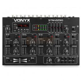 Vonyx STM2290 - 8-Kanaals Mixer Geluidseffecten USB/MP3/BT bovenkant