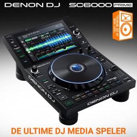 Denon DJ SC6000 Prime - Professionele DJ-mediaspeler met 10,1-inch touchscreen en WiFi-muziekstreaming. Test hem in de winkel!