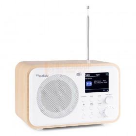 Audizio Milan DAB+ Radio -met battarij wit voorkant