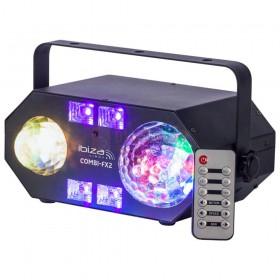 Ibiza Light COMBI-FX2 - 4-IN-1  licht effect met astro, waterwave, uv & strobe met afstandsbediening