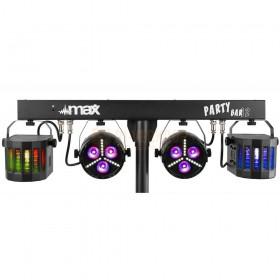 Max Partybar12 - Set 2x PAR en 2 x Derby lampen set  zonder statief