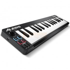 Alesis QMINI MKII - Compacte 32-toetsen USB-MIDI-toetsenbordcontroller schuin