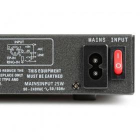voeding en aan uit schakelaar Vonyx VMM-F701 7-kanaal Muziek Mixer met MP3