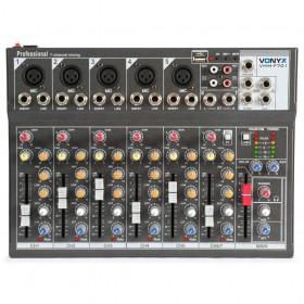 bovenaanzicht Vonyx VMM-F701 7-kanaal Muziek Mixer met MP3