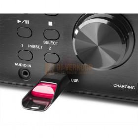 Audizio Prato - All-in-One Muziek systeem CD/DAB+ Zwart USB Ingang