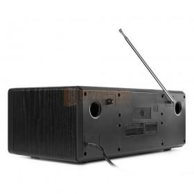 Audizio Prato - All-in-One Muziek systeem CD/DAB+ Zwart achterkant