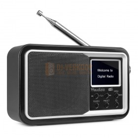 Audizio Parma - Portable DAB+ Radio Black voorkant