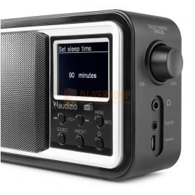 Audizio Parma - Portable DAB+ Radio Black schuin rechts voor