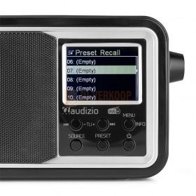 Audizio Parma - Portable DAB+ Radio Black bedienings paneel regel toetsen schermpje
