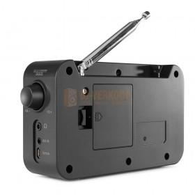 Audizio Parma - Portable DAB+ Radio Black achterkant voor batterijen