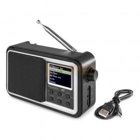 Audizio Anzio - Portable DAB+ Radio met baterij zwart