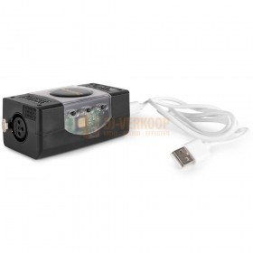 BeamZ USB DMX Interface met Light Rider/ESA2 met usb kabel knoppen