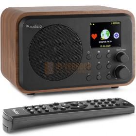 Audizio Venice WIFI Internet Radio - met batterij Wood met afstandsbediening