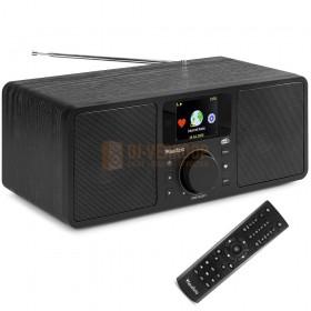 Audizio Rome - WIFI Internet Stereo DAB+ Radio zwart met afstandsbediening