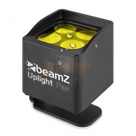 Beamz BBP44 - Mini Battery Uplight IP65 schuine voorkant/ bovenkant