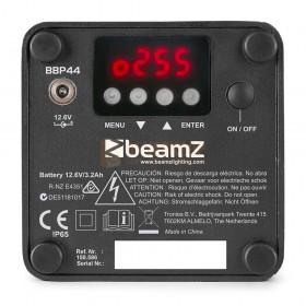 Beamz BBP44 - Mini Battery Uplight IP65 achterkant bediening