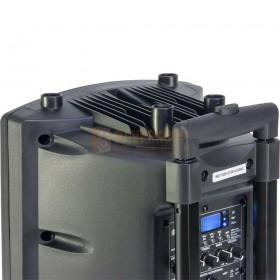 bovenkant Ibiza Sound PORT8VHF-BT - Mobiel Pa systeem met Bluetooth en USB Speler