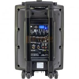 achterkant Ibiza Sound PORT8VHF-BT - Mobiel Pa systeem met Bluetooth en USB Speler