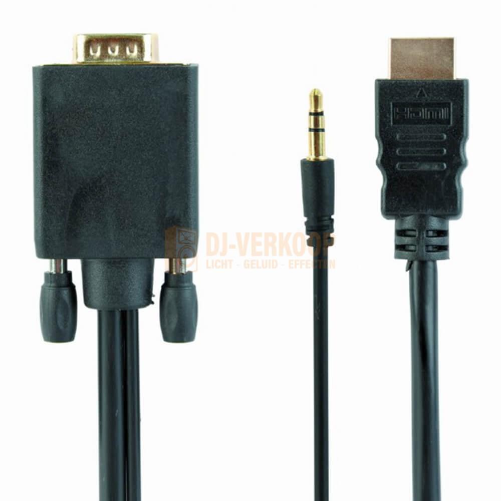 Cable expert - HDMI naar VGA kabel met audio, 1.8 meter