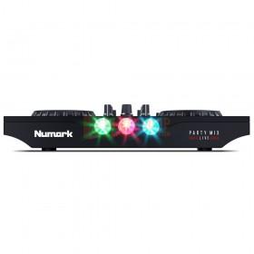Numark Party Mix Live - DJ-Controller met ingebouwde lichtshow en luidsprekers vooraanzicht van de lampjes