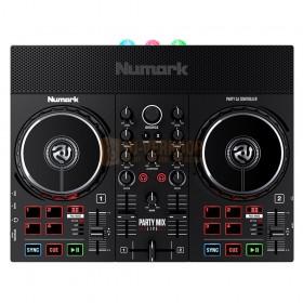 Numark Party Mix Live - DJ-Controller met ingebouwde lichtshow en luidsprekers Bovenaanzicht