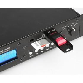 Power Dynamics PDC75 Mediaspeler met opnamefunctie usb en sd aansluitingen en bron schakelaar