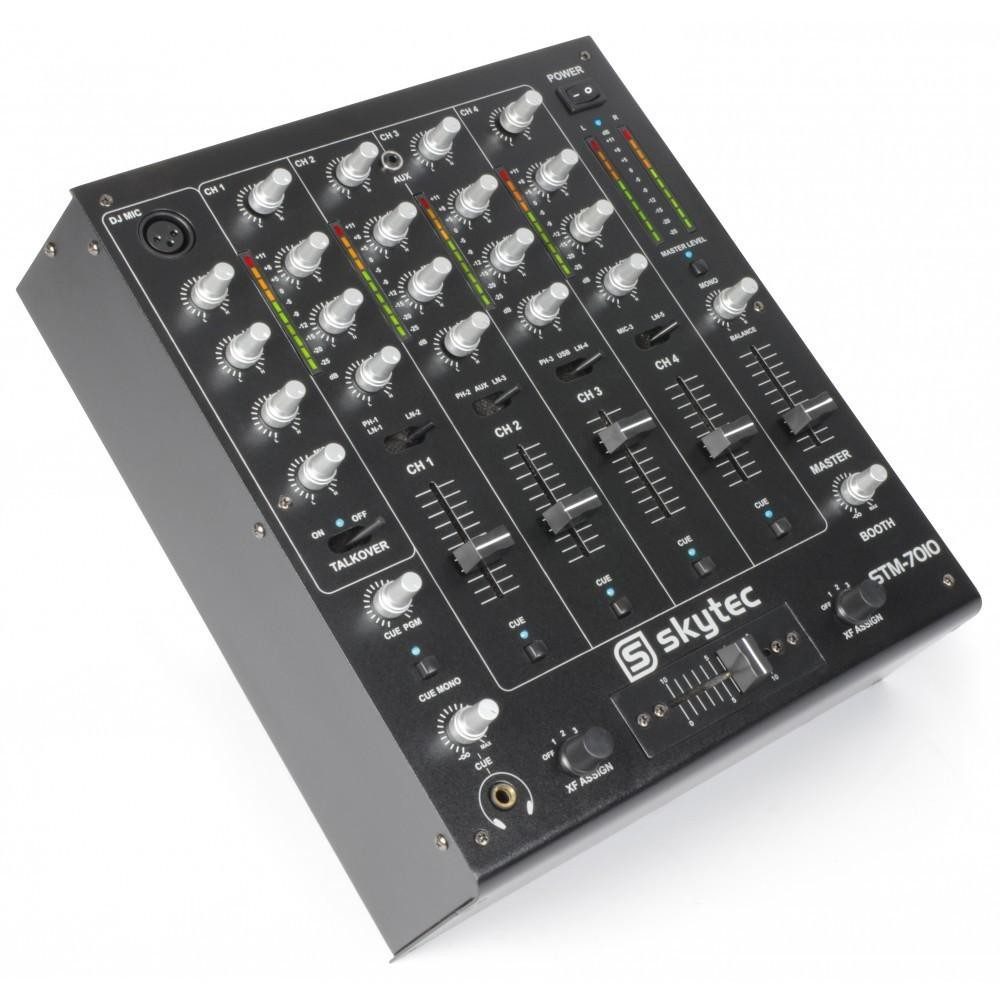 SkyTec STM-7010 Mixer - 4-Kanaals DJ Mixer met USB