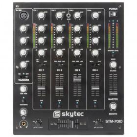 bovenkant SkyTec STM-7010 Mixer - 4-Kanaals DJ Mixer met USB