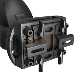 Cameo AURO® SPOT Z300 - LED Spot Moving Head onderkant met de bevestigings platen