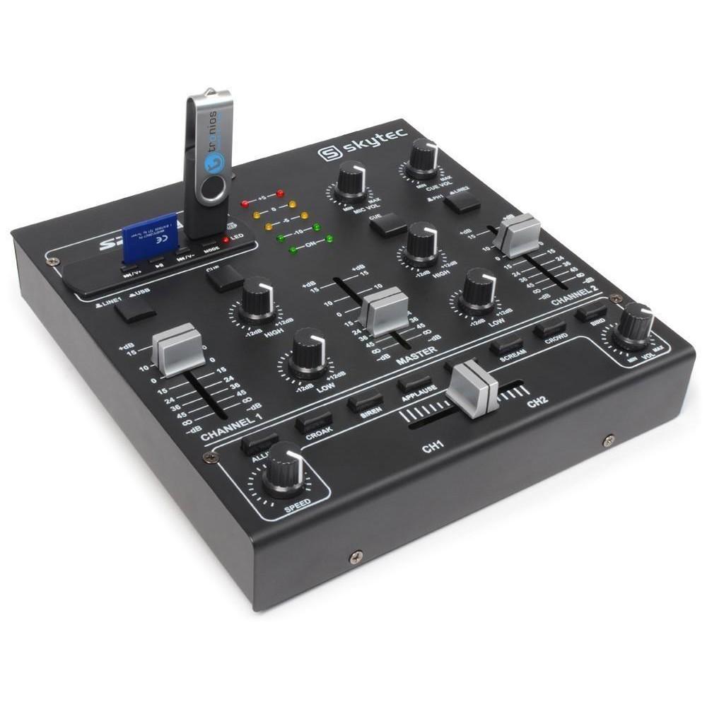 Vonyx STM2250 4 Kanaals Mixer Geluidseffecten USB MP3 - Overzicht