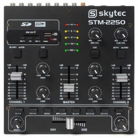 Vonyx STM2250 4 Kanaals Mixer Geluidseffecten USB MP3 - Bovenkant