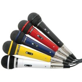 Fenton set van 5 gekleurde dynamische microfoons