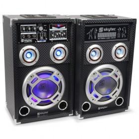 SkyTec KA-08 Actieve Speakerset 8 USB/RGB LED 600W