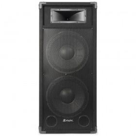 "voorkant SkyTec CSA212 PA Speaker Actief 2x 12"" 1200W"