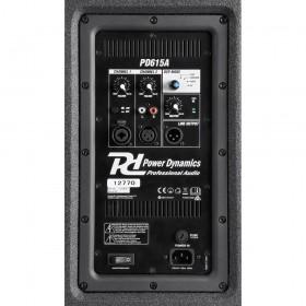 Power Dynamics PD615A - Active Speaker 15'' aansluiting