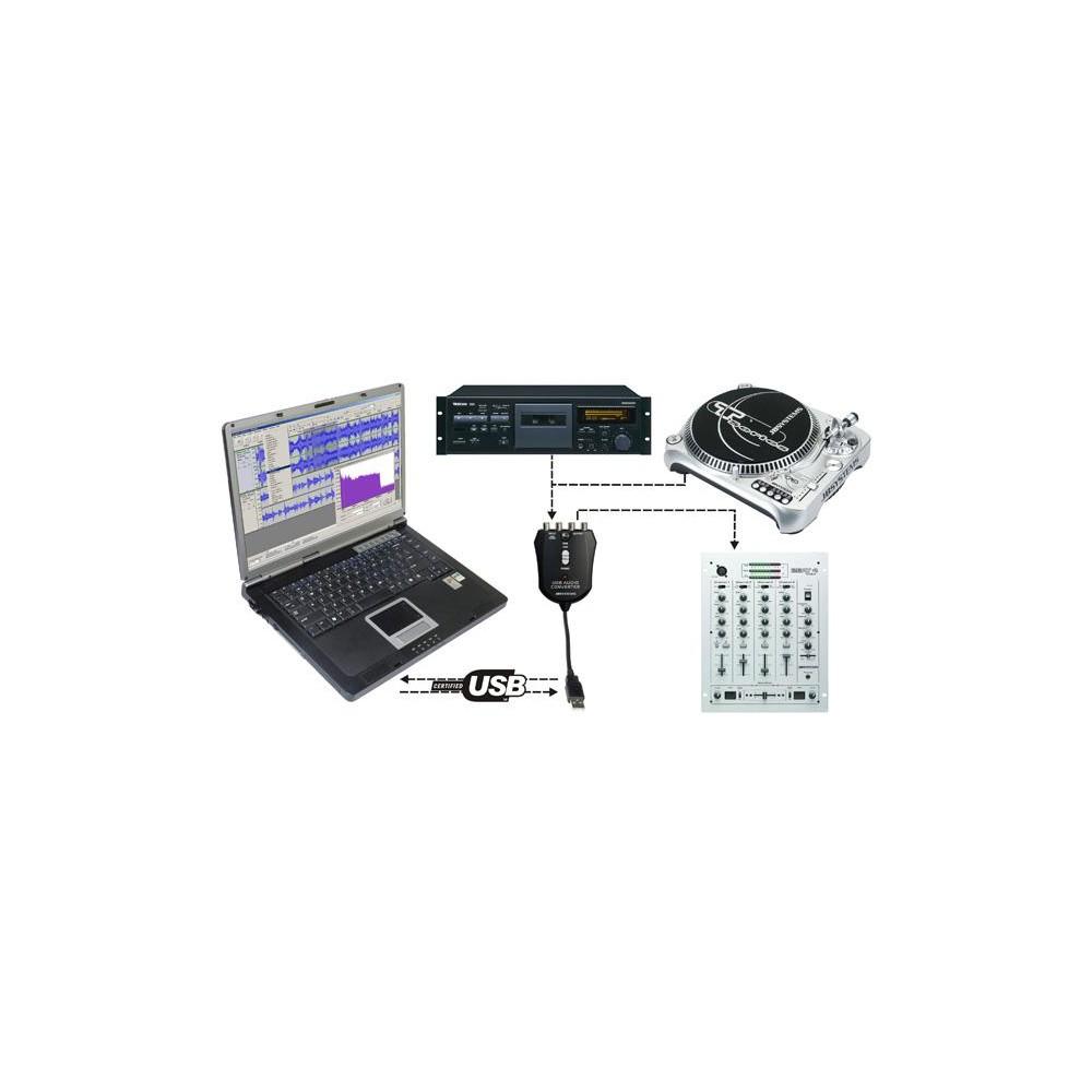JB Systems USB Audio converter - PC / Mac Geluidkaard