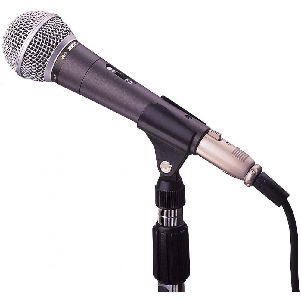 JB Systems JB10 - Professionele dynamische microfoon met klem