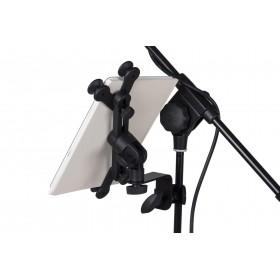 JB Systems Tablet Houder 6 tot 10 inch - met tablet er op achterkant
