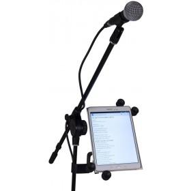 JB Systems Tablet Houder 6 tot 10 inch - met tablet er op voorkant
